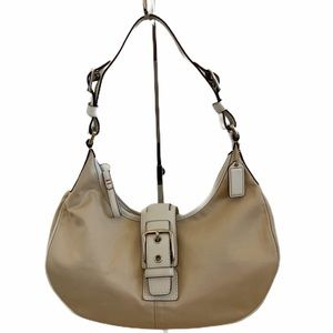 Coach Hobo Bag Champagne with Ivory Leather Trim